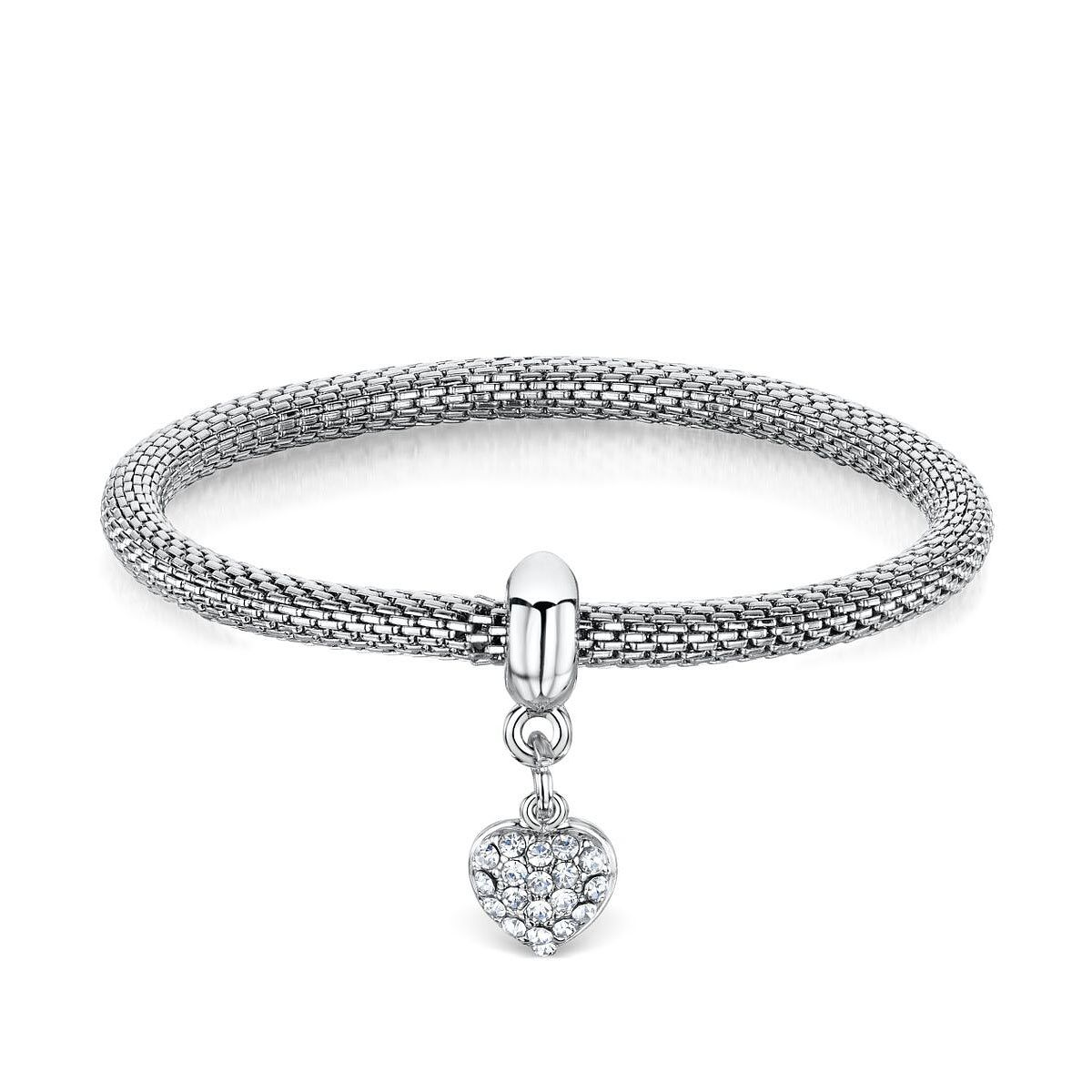 imitation bracelet collection with rhodium plated winter solid crystal stones autumn