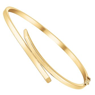 9ct gold crossover bangle - Product number 3068293