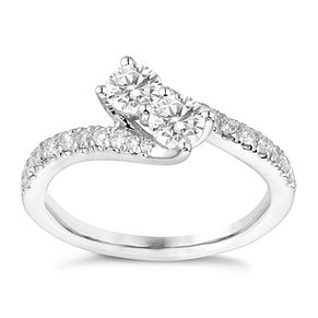 Ever Us 14ct White Gold 1/2 Carat Diamond Twist Ring - Product number 3069087