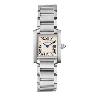 Cartier Tank Francaise ladies' steel bracelet watch - Product number 3070298