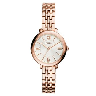 Fossil Ladies' Mini-Jacqueline Rose Gold Tone Bracelet Watch - Product number 3070913