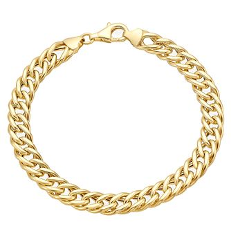9ct gold heavy curb bracelet - Product number 3070972