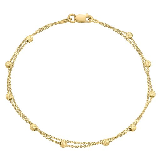 9ct gold two row bracelet - Product number 3070980