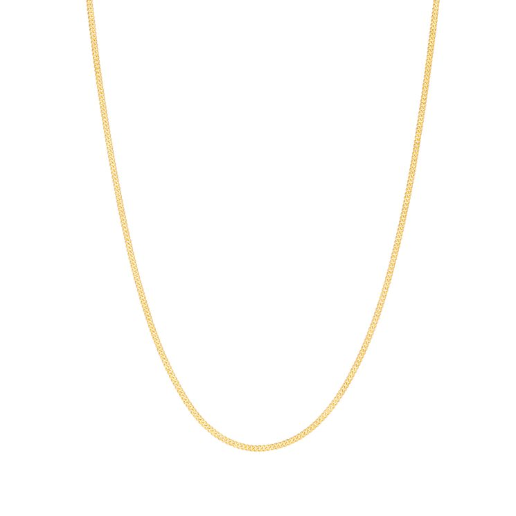 9ct gold adjustable 20 inch solid curb chain - Product number 3071359