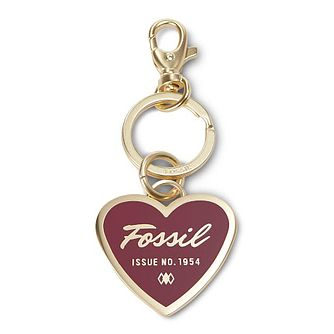 Fossil ladies' red heart key ring - Product number 3076520