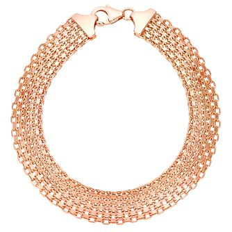 9ct rose gold wide bracelet - Product number 3081915