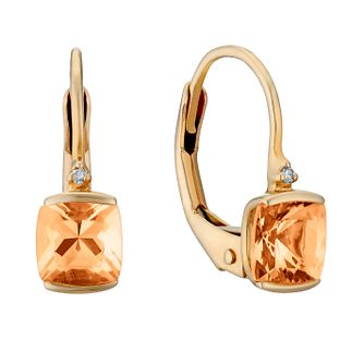 9ct rose gold morganite and diamond wire earrings - Product number 3082008
