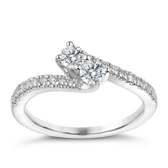 Ever Us 14ct white gold 0.50ct two stone diamond ring - Product number 3082237