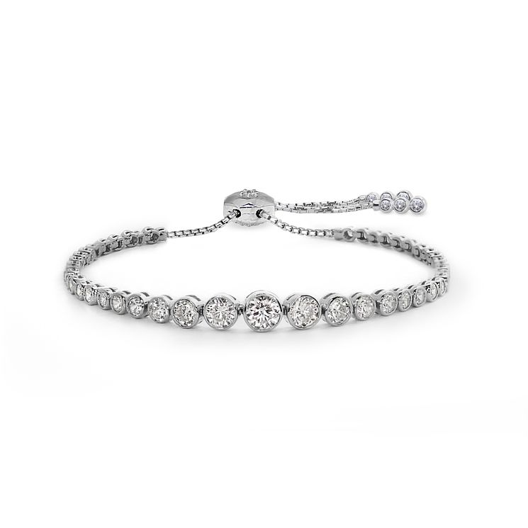 Carat Millennium Brilliants sterling silver slider bracelet - Product number 3095010