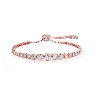 CARAT* LONDON Millennium Brilliant Rose Gold Plated Bracelet - Product number 3095053