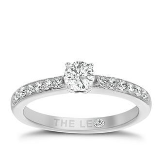 Leo Diamond 18ct white gold 0.50ct diamond ring - Product number 3098176