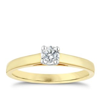 18ct gold 25pt claw set solitaire diamond ring - Product number 3107485