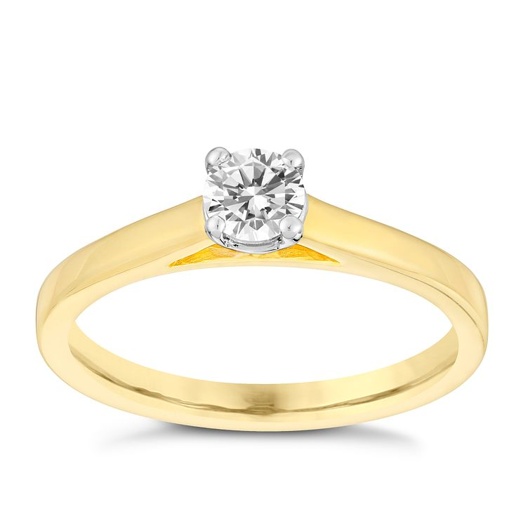18ct gold 33pt claw set solitaire diamond ring - Product number 3107612