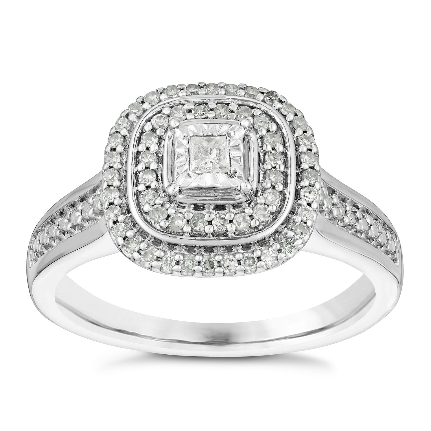 ring in platinum cut hamilton rings asscher cluster inches diamond