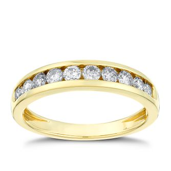 18ct Gold 1/2ct Diamond Eternity Ring - Product number 3109364