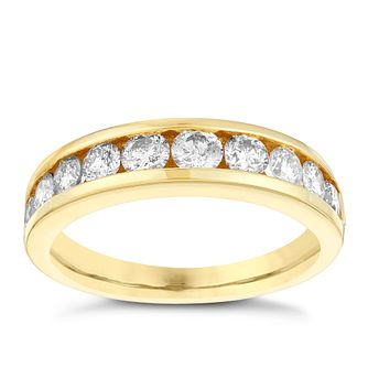 18ct gold 1ct diamond eternity ring - Product number 3109585