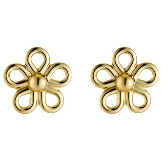 9ct Yellow Gold Daisy Stud Earrings - Product number 3112225
