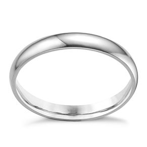 Platinum extra heavy 3mm court ring - Product number 3121445