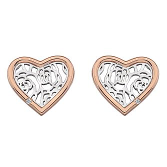 Hot Diamonds Ladies' Rose Gold Plated Faith Earrings - Product number 3131068