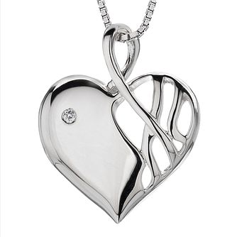 Hot Diamonds Sterling Silver Eclipse Heart Diamond Pendant - Product number 3139999