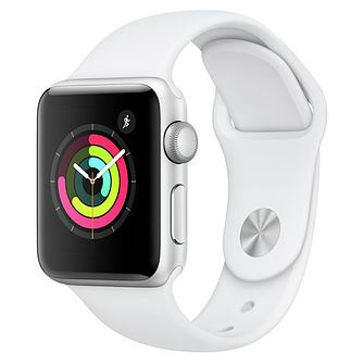 Apple Watch Series 3 38mm Silver Case with White Sport Band - Product number 3156842