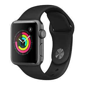 Apple Watch Series 3 42mm Grey Case with Black Sport Band - Product number 3156869