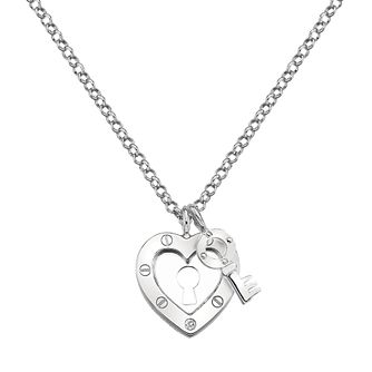 Hot Diamonds Lock In Love Ladies' Silver Pendant - Product number 3181413