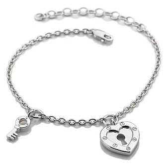 Hot Diamonds Lock In Love Ladies' Silver Bracelet - Product number 3182169