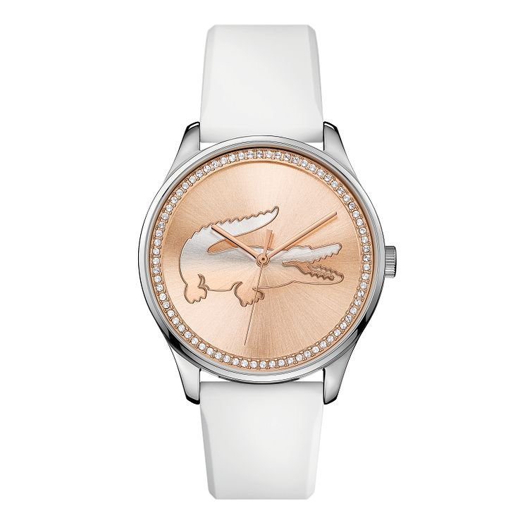 Lacoste Ladies' White Leather Strap Watch - Product number 3186504