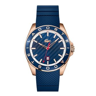 Lacoste Men's Blue Silicone Strap Watch - Product number 3186555