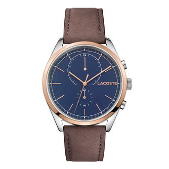 Lacoste Men's Brown Leather Strap Watch - Product number 3186571