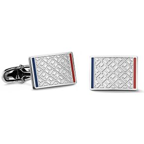 Tommy Hilfiger Men's Stainless Steel Jacquard Cufflinks - Product number 3235009