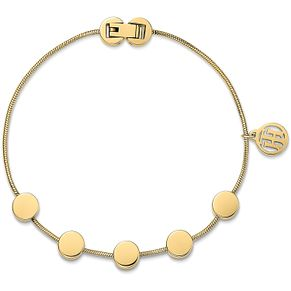 Tommy Hilfiger Ladies' Yellow Gold Plated Coin Bracelet - Product number 3235114