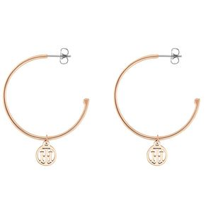 Tommy Hilfiger Ladies' Rose Gold Plated Hoop Earrings - Product number 3235157