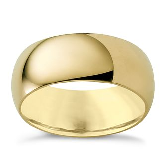 9ct gold super heavy 8mm court ring - Product number 3285588