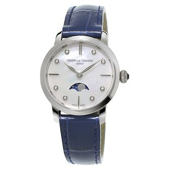 Frederique Constant Slimline Ladies' Blue Strap Watch - Product number 3321649