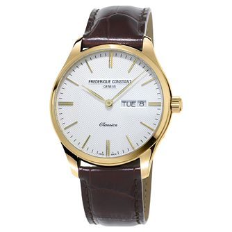 Frederique Constant Classics Men's Gold Plated Strap Watch - Product number 3322025