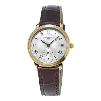 Frederique Constant Slimline Ladies Yellow Gold Plated Watch - Product number 3322157