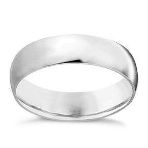 9ct White Gold 6mm Extra Heavy Court Ring - Product number 3399311