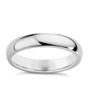 18ct White Gold 3mm Extra Heavy D Shape Ring - Product number 3399923