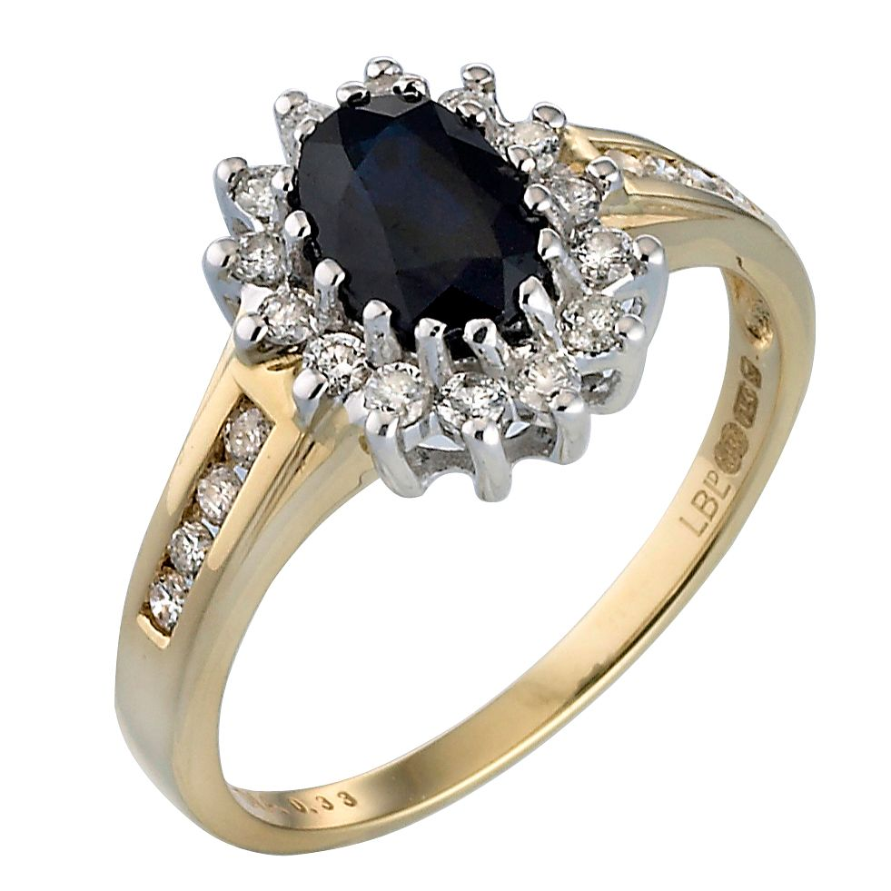 gold image sapphire ring diamond yellow