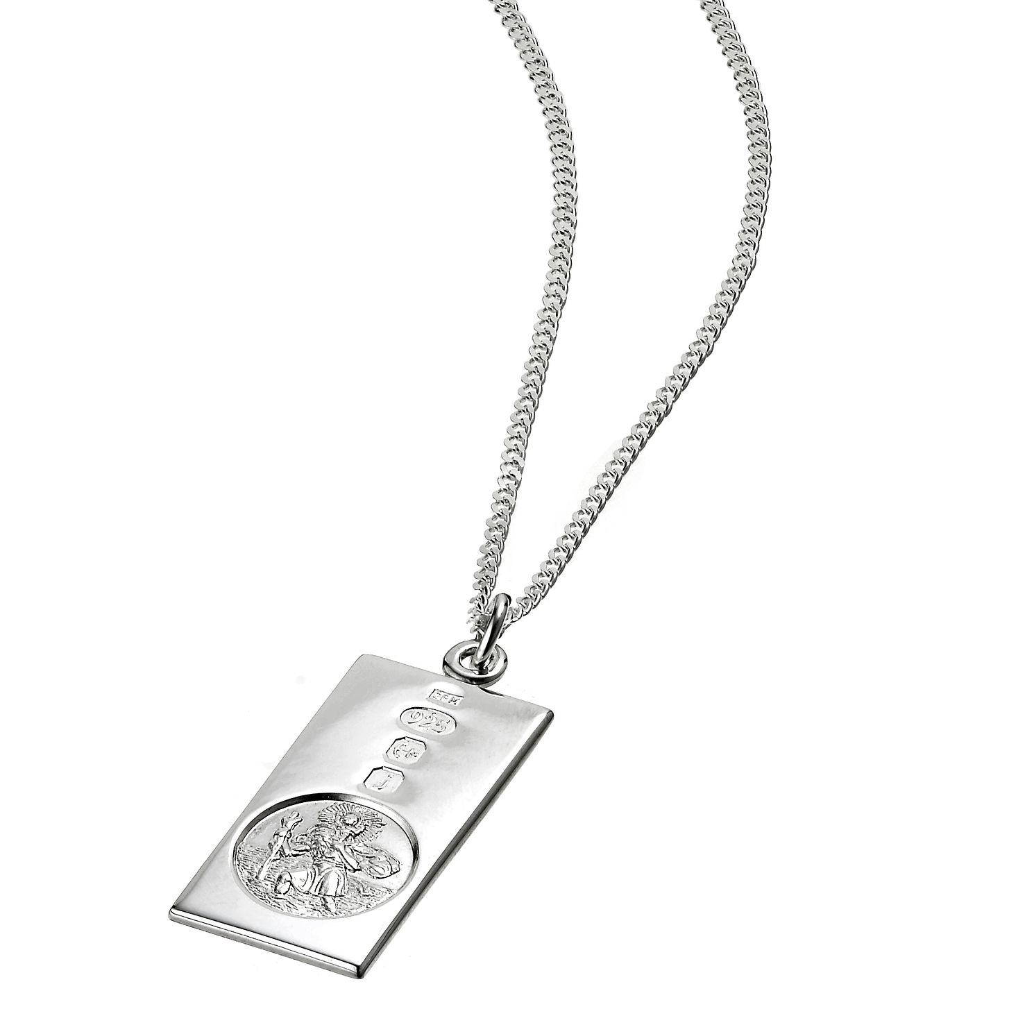 Necklaces hmuel sterling silver st christopher ingot pendant product number 3411745 mozeypictures Image collections