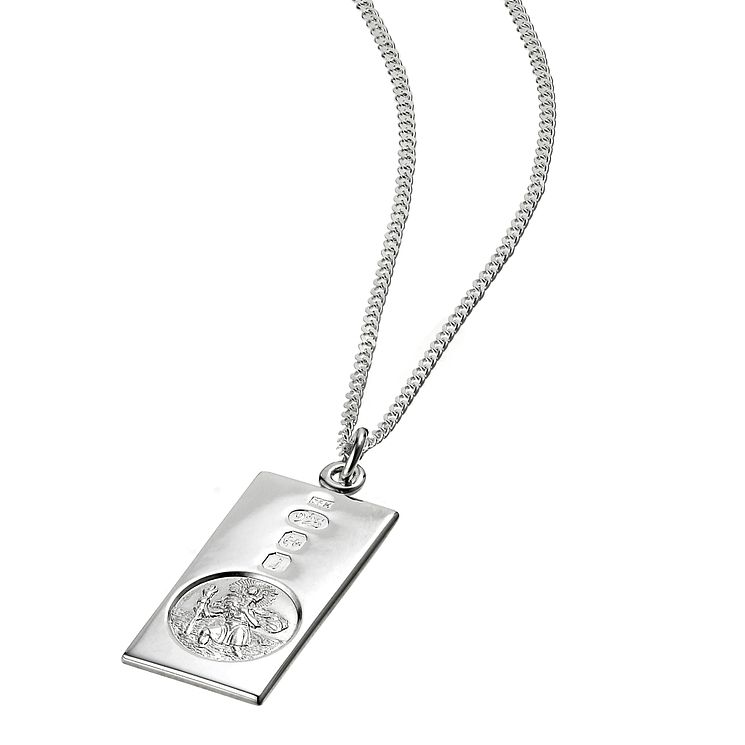 Sterling Silver St Christopher Ingot Pendant - Product number 3411745