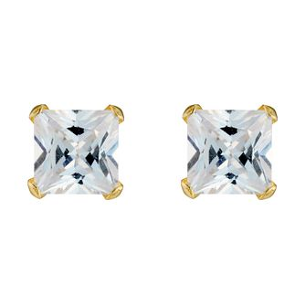 9ct Gold Cubic Zirconia Stud Earrings - Product number 3416283