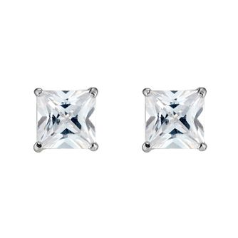 White Gold Cubic Zirconia Studs - Product number 3416364