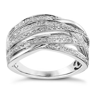 Sterling silver 33pt diamond multi-strand ring - Product number 3421457