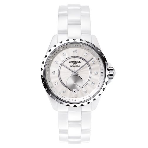 Chanel Ladies' Ceramic J12 Diamond Set Bracelet Watch - Product number 3434699