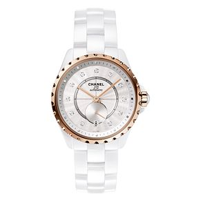 Chanel Ladies' J12 White Cermaic Bracelet Watch - Product number 3434729