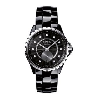 Chanel Ladies' Ceramic J12 Diamond Set Bracelet Watch - Product number 3434737