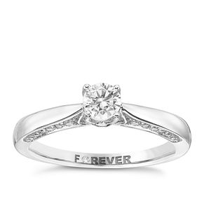 18ct White Gold 2/5 Carat Forever Diamond Ring - Product number 3438058